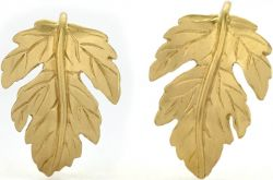 Tulola Leaf Hoops 18k Gold Vermeil Earrings