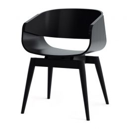 4th Armchair Color in Black