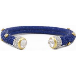 Sally Skoufis Blue Shagreen Studded Cuff