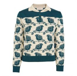 Aila - Teal Robbin - Knitted Top