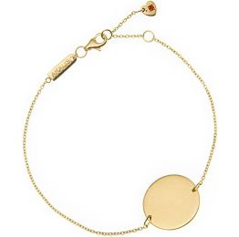 Engravable Single Disc Gold Bracelet | AKALiS