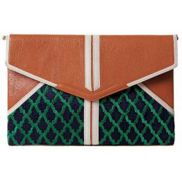 Anfa Pumpkin Envelope Clutch