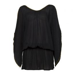 The Barefoot Aphrodite Short Kaftan Black