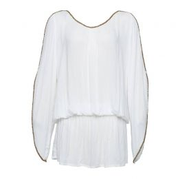 The Barefoot Aphrodite Short Kaftan White