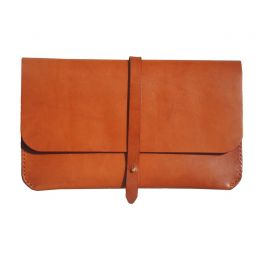 Brown Clutch with Strap | Ashiq Studio