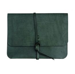 Khaki iPad Sleeve-Portfolio with knot | Ashiq Studio