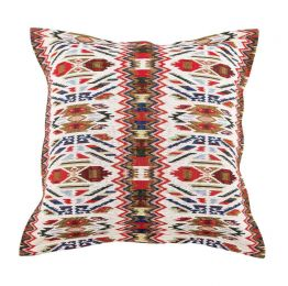 Aztec Faux Leather Large Cushion