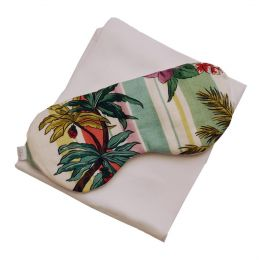 Bamboo Silk Pillowcase & Eye Mask Gift Set – Tropical