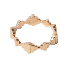 Baori Crown Ring - Rose Gold Vermeil