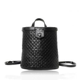 Leather Basket Backpack