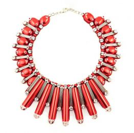 Beautix Red Swarovski Necklace | Begada