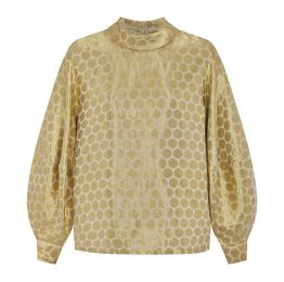 Bels Silk Gold Dots Blouse