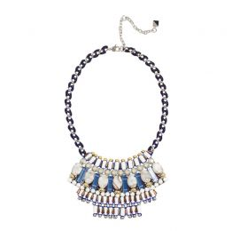 Benny Multicoloured Adjustable Bib Necklace | Nocturne Studio London