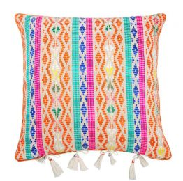 Bedouin Berber Orange Hemp Cushion