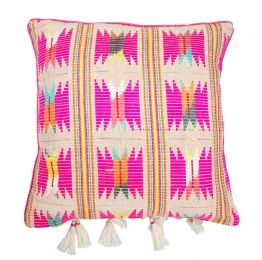 Bedouin Berber Pink Hemp Cushion
