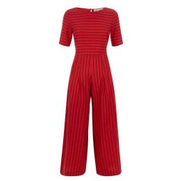 Bianca Striped Jumpsuit in Red