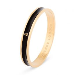 Black and Gold Personalised Initial Bangle