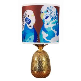 Blue Budgies Lampshade | Chloe Croft