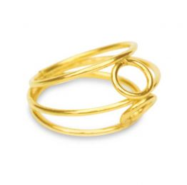 Bound Ring 18K Gold Plated