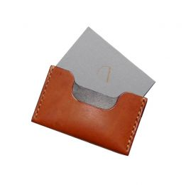 Blue Leather Card Holder | Ashiq Studio