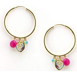 Candy Drop Hoops Earrings By Manish Arora for Amrapali Collaboration