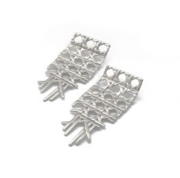 Cane Silver Earrings | Rahya Jewelry Design