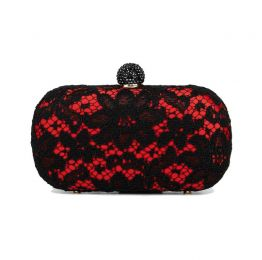 Carmen Red Lace Clutch
