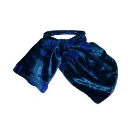 CECILY Silk Devore Navy Neck Scarf