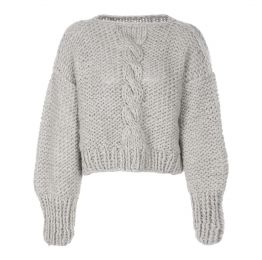 Chunky Cable Knit Oversized Wool Jumper