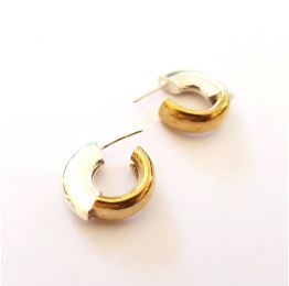 Chunky Hoops Silver & Brass