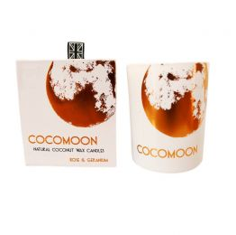 COCOMOON Luxury Coconut Wax Candle – Rose & Geranium