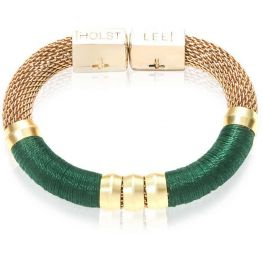 Holts + Lee Colour Block Royal Mesh Forest Green Bracelet