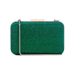 Crystal Clutch in Green