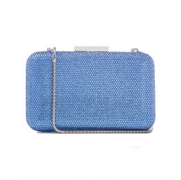 Crystal Clutch in Ligh Blue