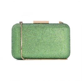 Crystal Clutch in Ligh Green