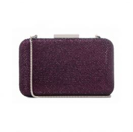 Crystal Clutch in Purple