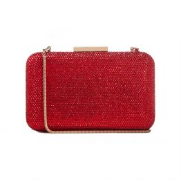 Crystal Clutch in Red