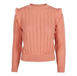 Diana - Pink Ruffle Knitted Top