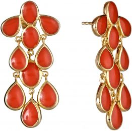 Isharya Splash Drop Earring Coral