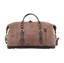 Zip Detail Canvas Holdall Bag