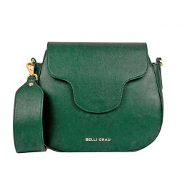 Elena Handmade Green Leather Handbag