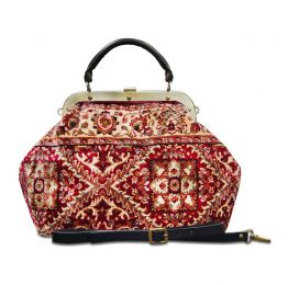 ESCULAP Treillage Red Doctor Gladstone Bag  | Made of Carpet
