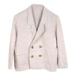 Ethically Made Beige Linen Jacket