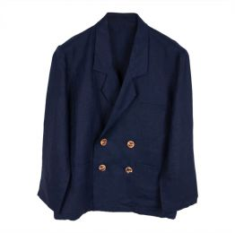 Ethically Made Navy Linen Jacket