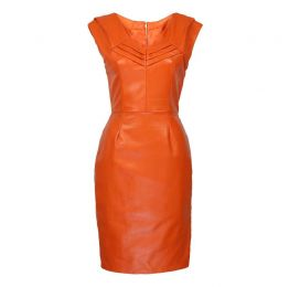 Etta Leather Dress
