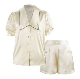 French Style Short Set - Pearl White