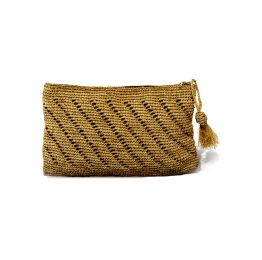 Gaby Raffia Clutch Bag | The Noces