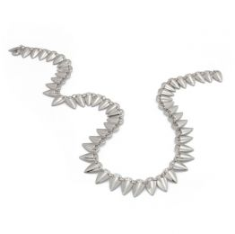 Grain Link Silver Necklace | Rahya Jewelrey Design