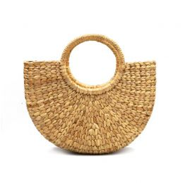 Half Round Woven Medium Hyacinth Bag