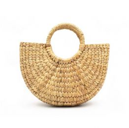 Half Round Woven Small Hyacinth Bag
